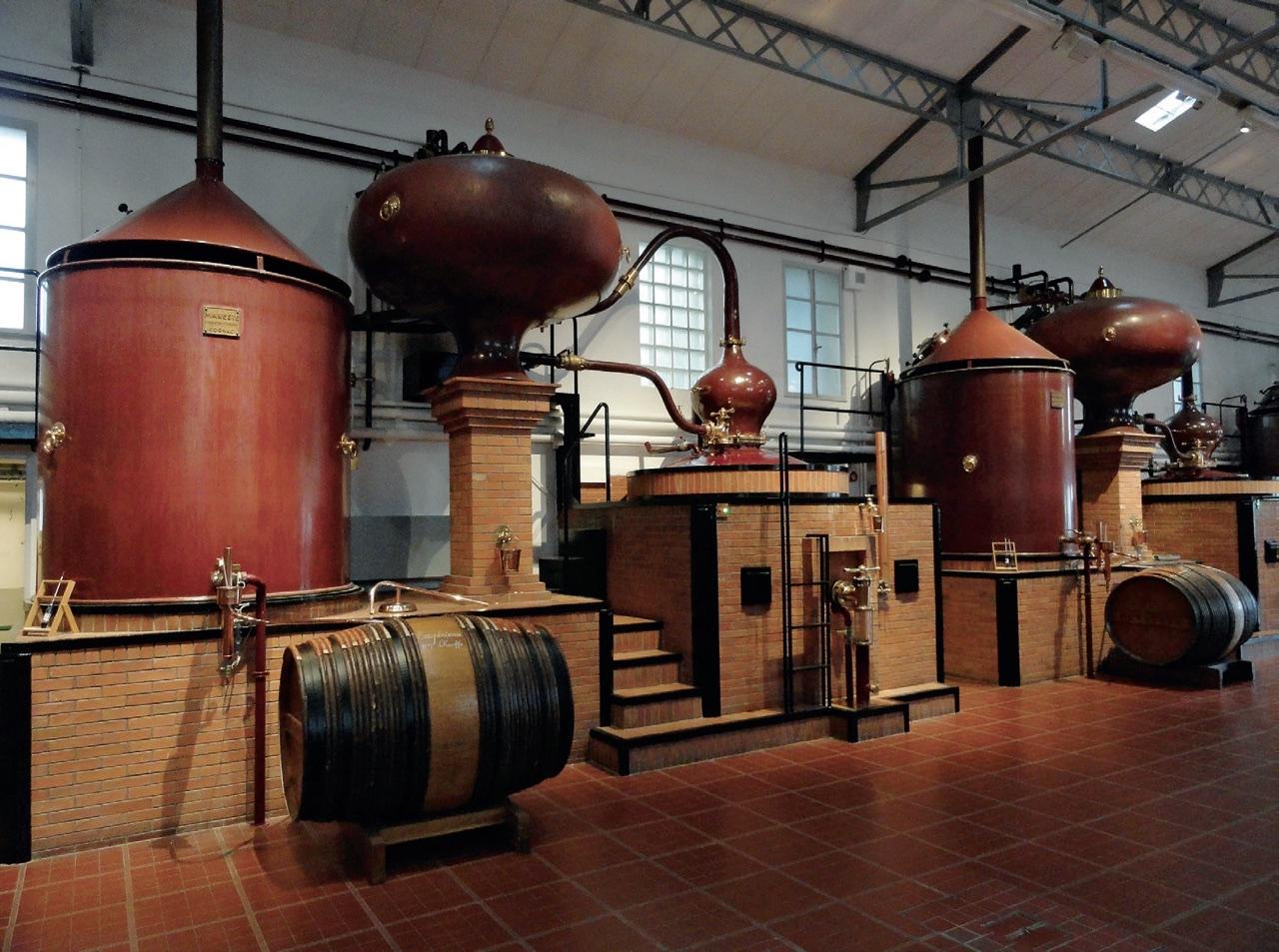 alambiques de destilação de cognac